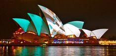 Vivid Sydney lighting up the Sydney Opera House