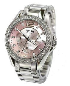 Women's Watches - *** FOSSIL GLITZ PINK BOYFRIEND WOMEN'S WATCH - ES2251
