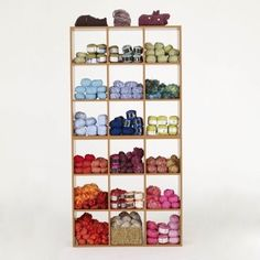 Wide x Tall Stacked Display Cubes Retail Fixtures, Store Fixtures, Yarn Display, Yarn Store, Smart Furniture, Store Displays, Shoe Rack, Cubes, Shelves