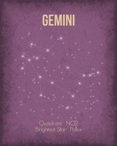 Gemini constellation ★