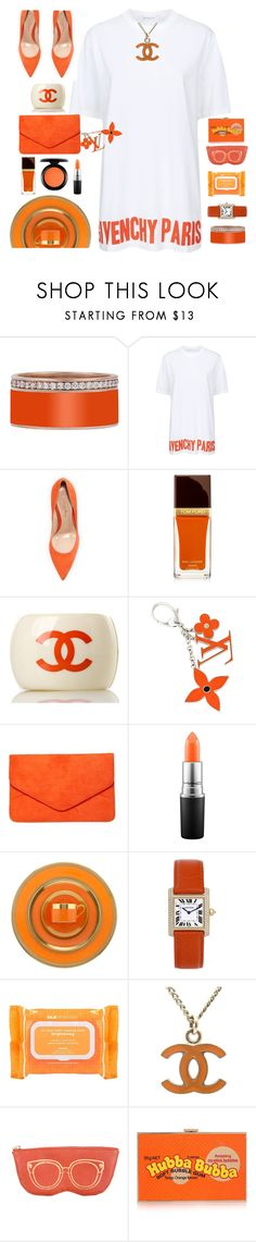 """""""Orange U fun 2 look @"""" by ellenfischerbeauty ❤ liked on Polyvore featuring Givenchy, Gianvito Rossi, Tom Ford, Chanel, Louis Vuitton, Dorothy Perkins, MAC Cosmetics, William Yeoward, Cartier and Ole Henriksen"""