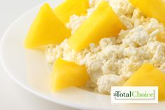 Total Choice Tropical Cottage Cheese and Fruit Bowl: Transport yourself to an island getaway with this blend of delicious ingredients. Eat this recipe on the Total Choice...
