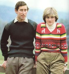 May 6, 1981: Prince Charles & his fiance, Lady Diana Spencer at Craigowan Lodge on the Balmoral Estate.