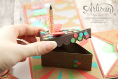 Cute Mini-Cake made with Cutie Pie Thinlits Dies, with instructions - Jessica Winter
