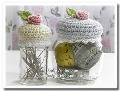 Crochet Jar Covers - cute