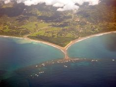 Aerial view of Playa Dominical Costa Rica