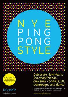 ping-pong-NYE-POSTER-2012 #pingpong #dimsum #chinese #design #food #print #advertising