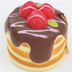 Premium Cafe de N pancake brown sauce squishy charm kawaii 2
