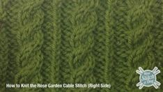 Example of the Rose Garden Cable Stitch (Right Side)