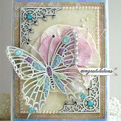 Congratulations Card w/ gorgeous butterfly