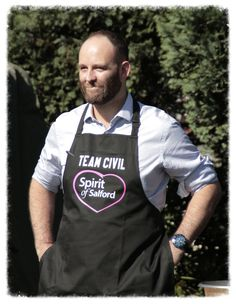https://flic.kr/p/LqCxJs | Man of the Moment | current city mayor of Salford Paul Dennet attending and taking part in the bake off event at Salfords Big Day Out Event