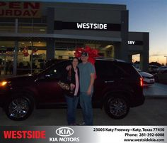 #HappyAnniversary to Ross Sinclair on your 2013 #Kia #Sorento from Everyone at Westside Kia!