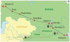 Trans-Siberia Railway, Russia to China