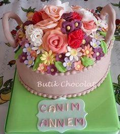 Çiçek Sepeti Pastası
