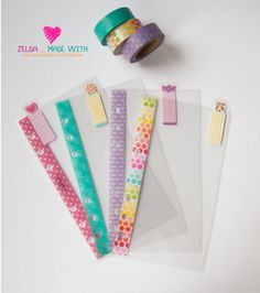 Personal+Filofax+Clear+Dividers+Top+Tabs+++by+ZeldaMadeWithLove
