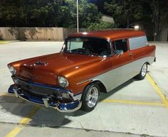 1956 Chevrolet Sedan Delivery #ClassicCars #CTins #Chevy