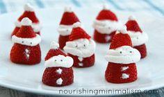 Nourishing Minimalism: Strawberry Santas