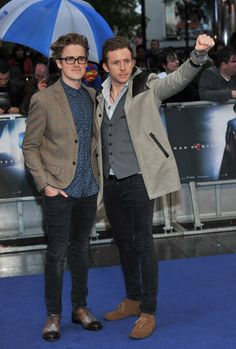 Tom and Danny McFly looked hot at the Man of Steel premiere.