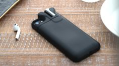 Nova Technology is raising funds for PodCase - Battery Case for Your iPhone and AirPods on Kickstarter! Never lose your AirPods! PodCase is a slim battery case that keeps your iPhone and Airpods in one place and fully charged. Cool Technology, Technology Gadgets, Futuristic Technology, Energy Technology, Iphone 8 Cases, Iphone 6, Phone Case, Samsung Cases, Pebble Watch