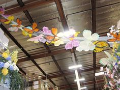 Butterfly Garland for Spring/Easter/MayDay/Fairy/Mid Summer' Eve parties