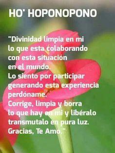 Oponopono Mantra, Spanish Quotes, Alternative Medicine, Yoga, Positive Affirmations, Reiki, Chakra, Prayers, Spirituality