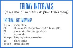 Today's workout! Try to do these at least four times today. Links to some of the moves: Russian Twists Mountain climbers abs Long-leg scissor crunches Plank jacks Speed skaters As usual, try to do these before eating. Gym Workout Guide, Park Workout, Tabata Workouts, Workout Challenge, At Home Workouts, Workout Plans, Cardio, Weekly Workouts, Quick Workouts