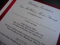 Red & White Wedding invitations
