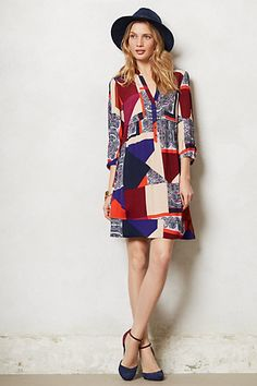 Taryn Crepe Shift #anthropologie