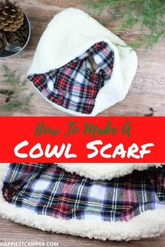 This super easy sewing tutorial will help take the chill out of the air. We show you How To Make A Cowl Scarf! This simple step by step sewing tutorial is easy to follow and great for beginner and advanced sewists alike. This fun project is fun to make with the kids. This cowl scarf makes a great gift this holiday season. Why pay retail prices when you can make it yourself quickly and easily. Sewing tutorial. Easy, How To Make A Cowl Scarf