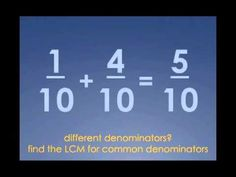Two #Fractions -- song parody - YouTube  For FIFTH grade. Activity: clap along to the song. Lead Topic: rules for adding, subtracting, and multiplying, dividing fractions. #math Teaching Fractions, Math Fractions, Teaching Math, Dividing Fractions, Equivalent Fractions, Maths, Teaching Ideas, Math Teacher, Math Classroom