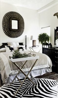 Black and white room...