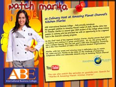 Catch our very own Marika of ABE Iloilo in Amazing Planet's Kitchen Diaries!