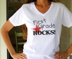 Click on the link for the Template to make this T-shirt... They have Kindergarten-Fourth Grade available.