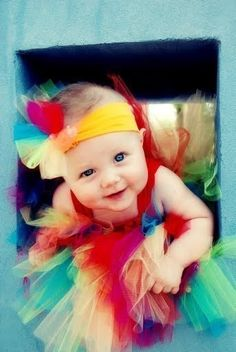 Rainbow Tulle Flower Clip and Headband by lilyjillbowtique on Etsy, $5.00