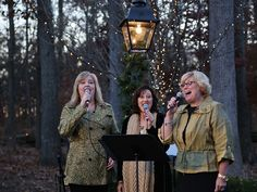 2014 Christmas at the Library - Carolers lead guests in traditional Christmas songs