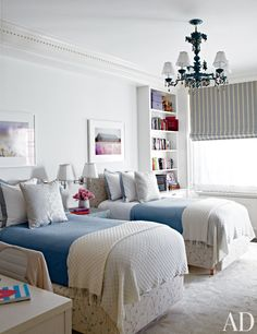 Two beds are better than one in this collection of inspired children's room and guest rooms