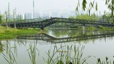 Ningbo East New Town Eco-Corridor - Bridge Design, Ningbo, Corridor, Landscape Architecture, Urban, Bridges, Water, Design Ideas, Group