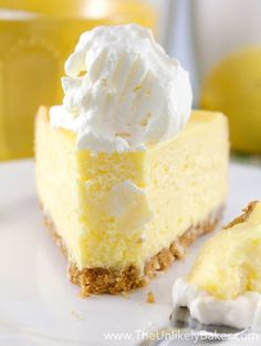 The Best Lemon Cheesecake. Ever - - Lemon cheesecake is an ultimate cheesecake. It's fresh, and feel so summery yet it's a great dessert for any season. These lemon cheesecake so yummy…. Lemon Desserts, Great Desserts, Lemon Recipes, Baking Recipes, Dessert Recipes, Lemon Cheesecake Recipes, Ricotta Cheesecake, Refreshing Desserts, Bread Recipes