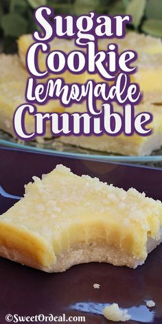Sugar Cookie Lemonade Crumble - Sugar cookie meets lemonade and it's love at first bite. Before you know it, Sugar Cookie Lemonade - Lemon Desserts, Lemon Recipes, Köstliche Desserts, Baking Recipes, Sweet Recipes, Cookie Recipes, Delicious Desserts, Dessert Recipes, Bar Recipes