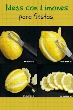 Ideas con limones para fiestas, incluye la receta de la limonada rosa sin colorantes.