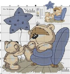Fizzy Moon by paige Cross Stitch For Kids, Cross Stitch Cards, Cross Stitch Baby, Cross Stitch Animals, Cross Stitching, Cross Stitch Embroidery, Embroidery Patterns, Cross Stitch Designs, Cross Stitch Patterns