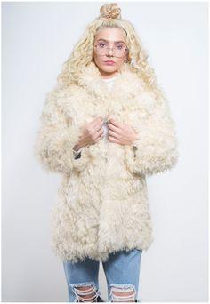 Vintage 70s Shearling Sheepskin Coat