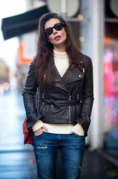 a rocker chic winter look