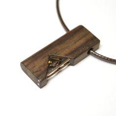 Vladimir Shestakov. Adrenalin. Pendant. Indian rosewood, natural rauchtopaz, 585 gold. http://www.shestakov-jewellery.ru/
