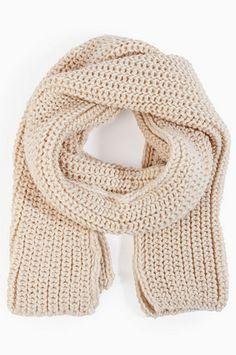 Wonderland Knit Scarf $28 at www.tobi.com