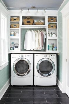 Inspiration for laundrey room refresh - Enjoy the Sunshine in the Laundry Room