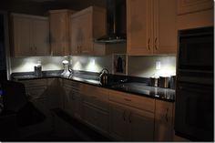 Easy under cabinet lights.