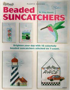 Beaded Suncatchers Plastic Canvas Book by needlecraftsupershop, $8.99 glass beads: http://www.ecrafty.com/c-2-glass-beads.aspx