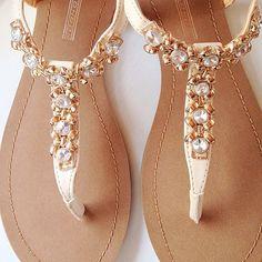 #Shoes #Sandals #Gold #Summer #Boho