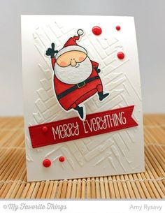 card christmas santa MFT Jingle all the way Die-namics Merry Everything #mftstamps stencil paste